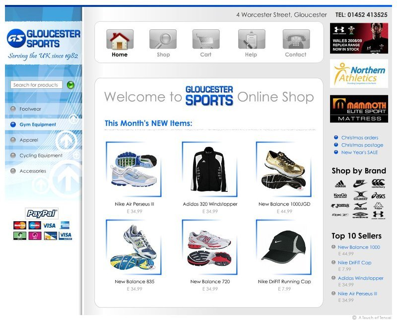 (Web Shop Design ::: Gloucester) ::: Gloucester Sports Online Shop