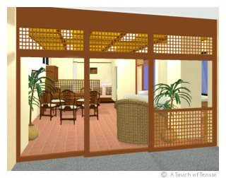 (Shop Design ::: Kitakyushu) ::: Bali-style Tennis School Clubhouse
