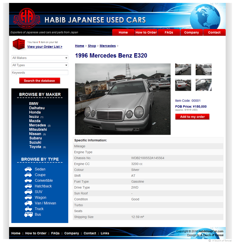 (Web Design ::: Iizuka) ::: Habib Japanese Used Cars Website