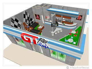 (Cafe Design ::: Saudi Arabia) ::: GT Cafe Motorsports Coffee Shop