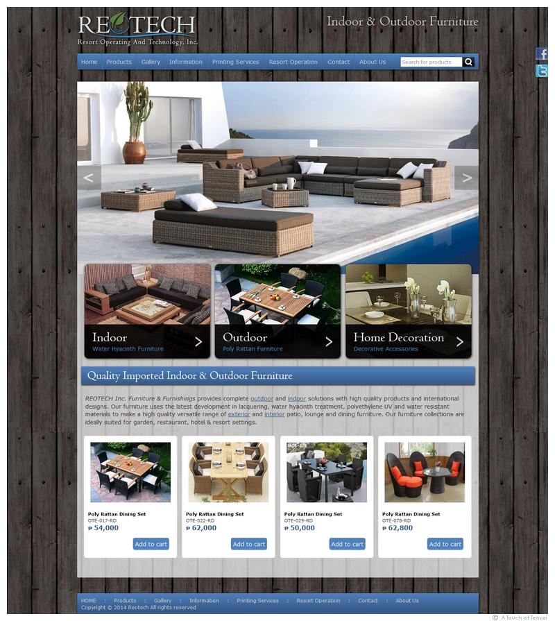 (Web Design ::: Philippines) (ReoTech Resort Furniture