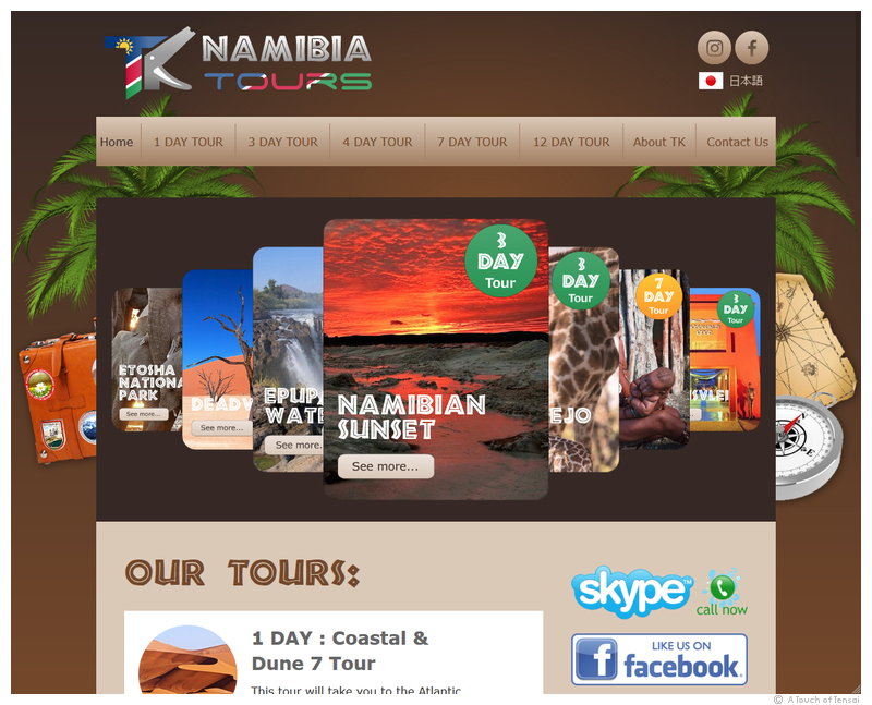 (Web Design ::: Namibia) ::: TK Namibia Tours Website