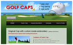 Kingston Golf Caps Website  (Web Design ::: Fukuoka)
