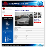 Habib Japanese Used Cars Website  (Web Design ::: Iizuka)